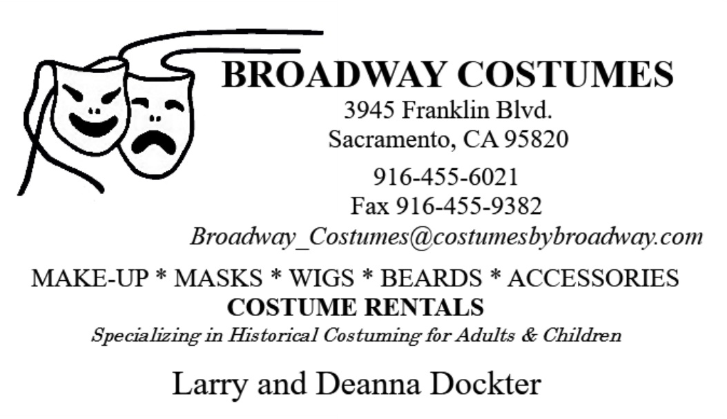 Broadway Costumes Business Card