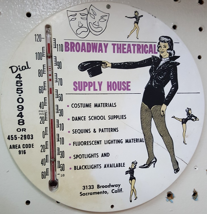 Broadway Costumes Theatrical Supply House 1965 Thermometer